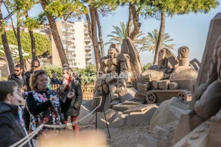 18ª edición del pesebre de arena de La Pineda