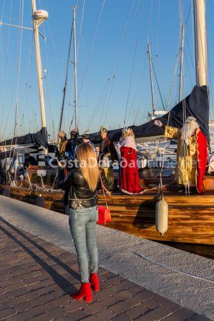 Roda de Berá, llegada de los Reyes Magos en barco