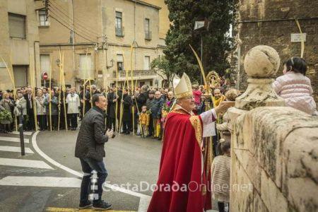 Semana santa Tarragona. Bendición de las palmas. Domingo
