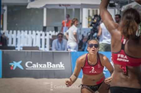 Juegos mediterraneo Tarragona 2018, semi final femenino voley playa
