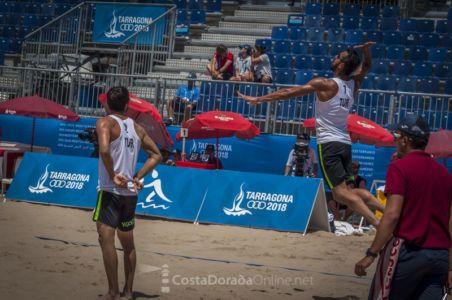Juegos mediterraneo Tarragona 2018, semi final masculino voley playa