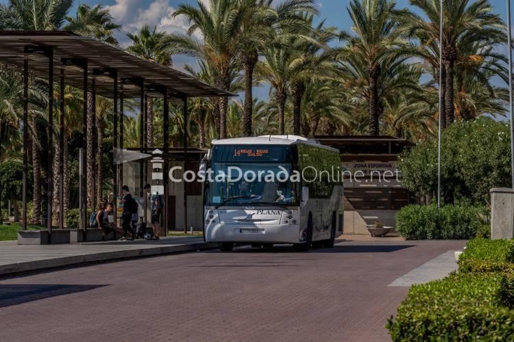 Autobuses de Salou; autobuses de salou plaza comunidades autonomicas paseo Jaume I
