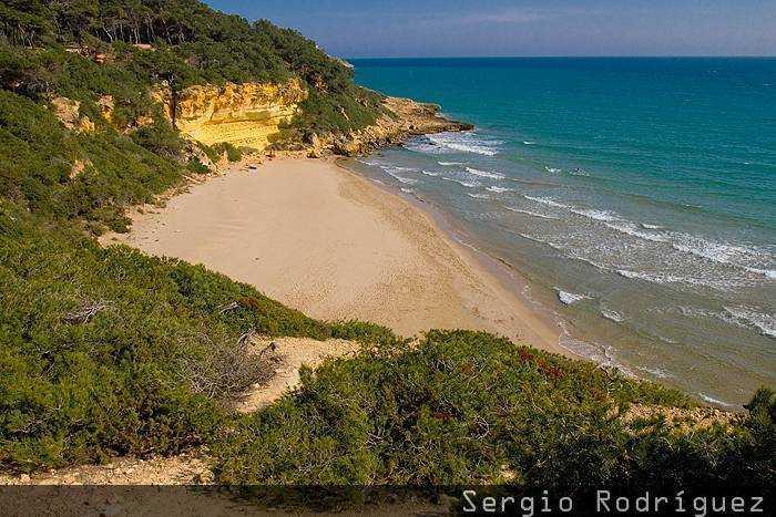Playas de Tarragona. Cala Fonda o Waikiki