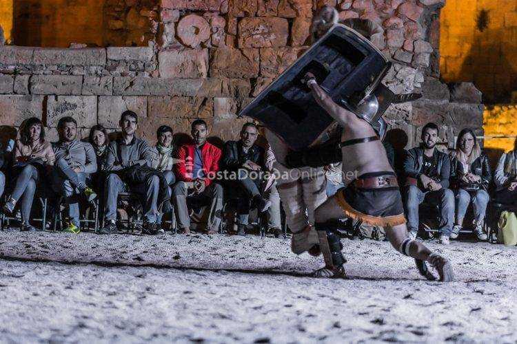 tarraco viva de Tarragona 2017; la vida cotidiana gladiadores LUDUS