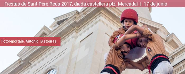 reus fiestas de sant pere 2017 diada castellera