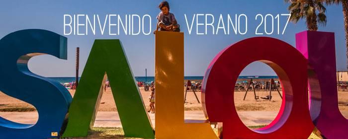 bienvenido verano playas de salou