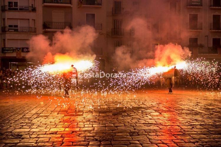 Reus Fiesta Mayor Sant Pere bous de foc 2017