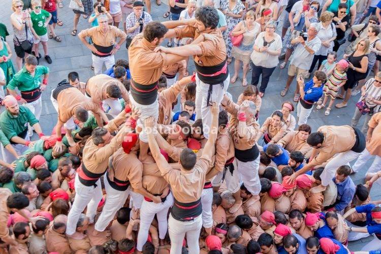Reus Fiesta Mayor Sant Pere Diada Castellera 2017