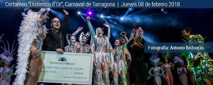 Carnaval de tarragona, disfressa d´Or 2018