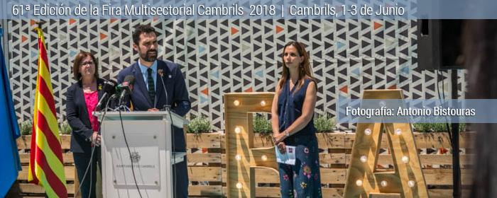 Cambrils inauguración fira multisectorial 2018