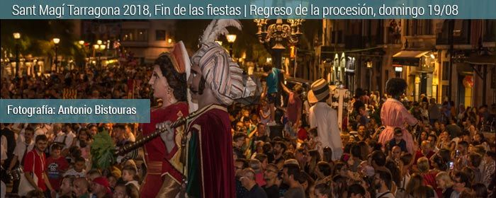 sant magi regreso de procesion tarragona 2018