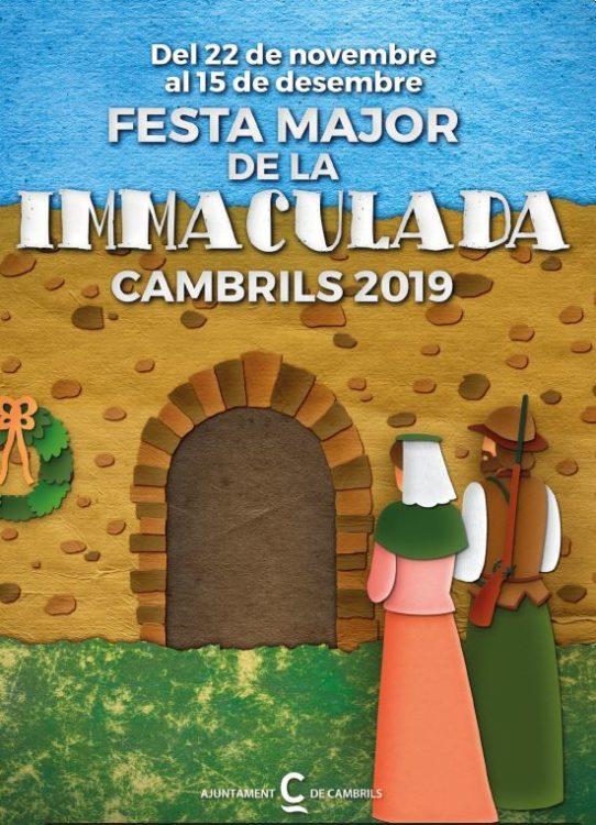 Cartel immaculada cambrils 2019