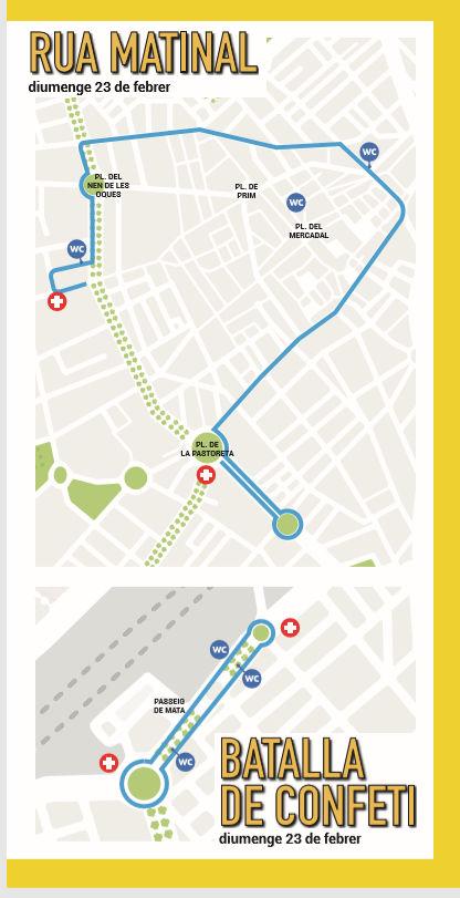 Mapa Desfile Carnaval Reus